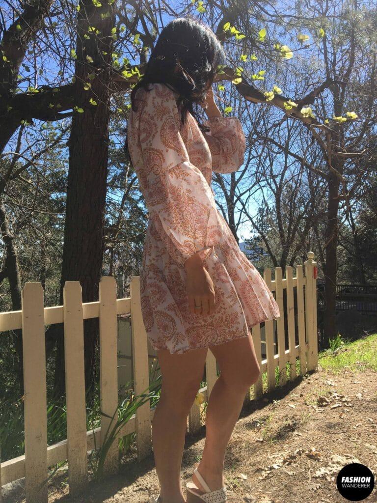 Maisey dress back view