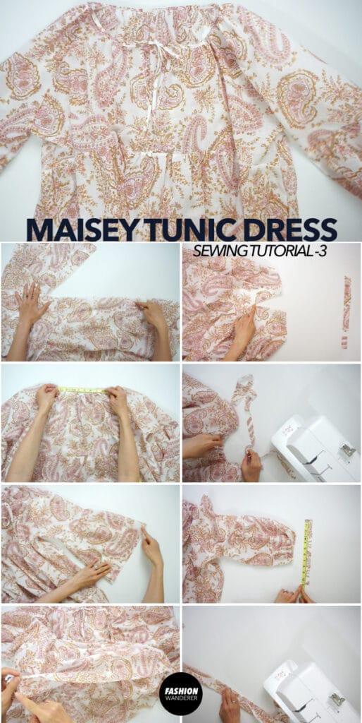 How to make boho peasant tunic dress