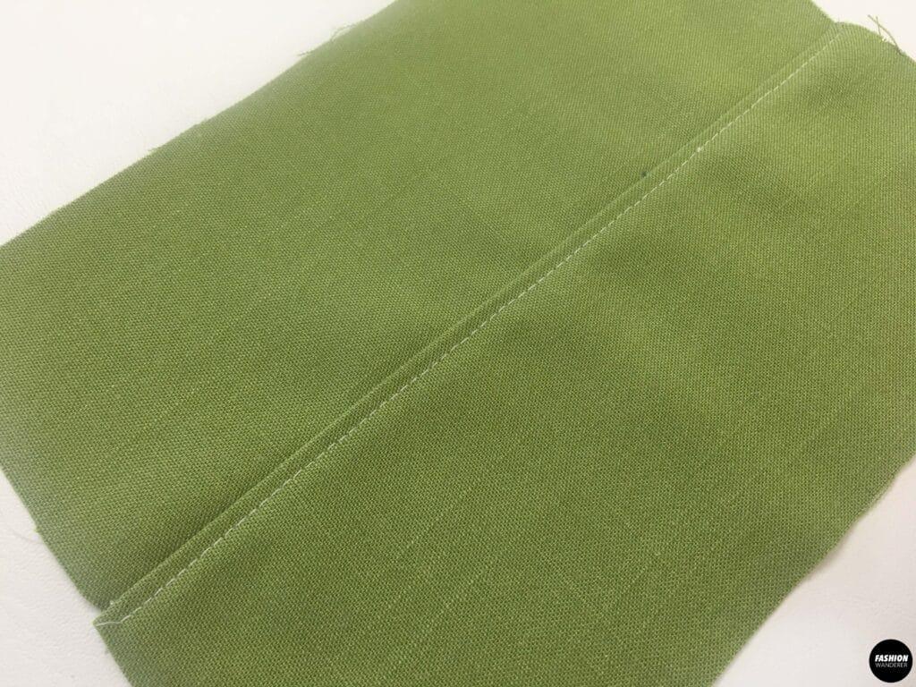 topstitch on center of fabric