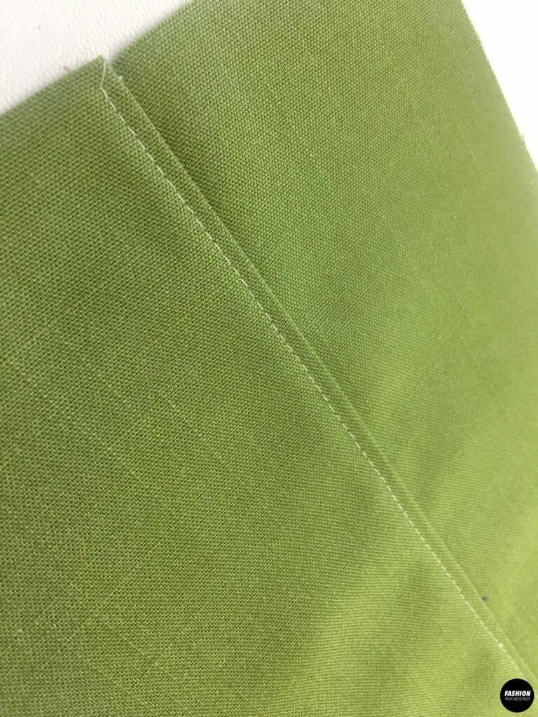 topstitch along edge of fabric