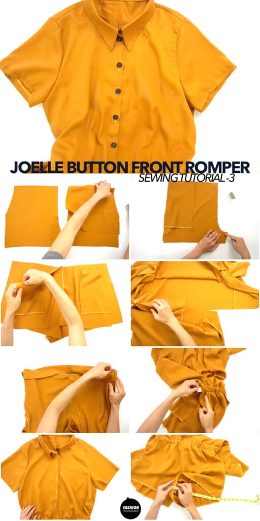 Diy button front romper from scratch