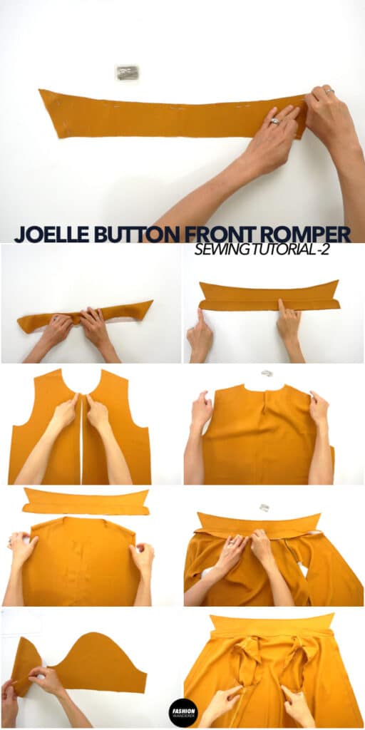 How to make a diy button front romper.