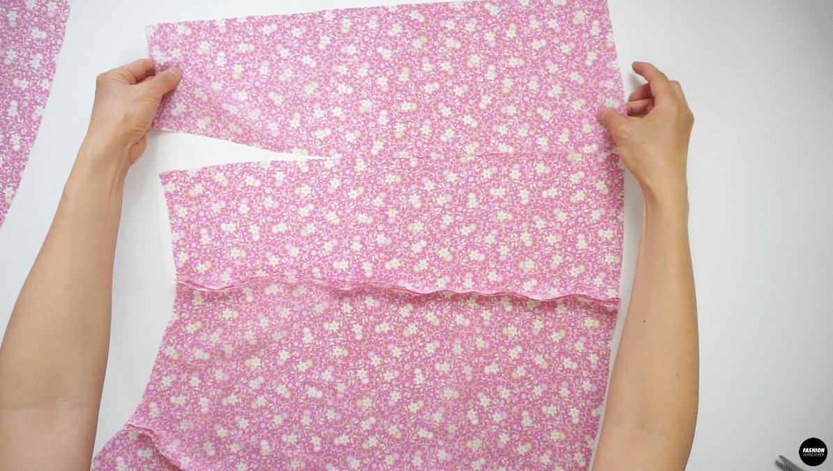 """Join the Side Back Skirt to the Front Skirt by placing them right sides together and straight stitch ⅜"""" width."""