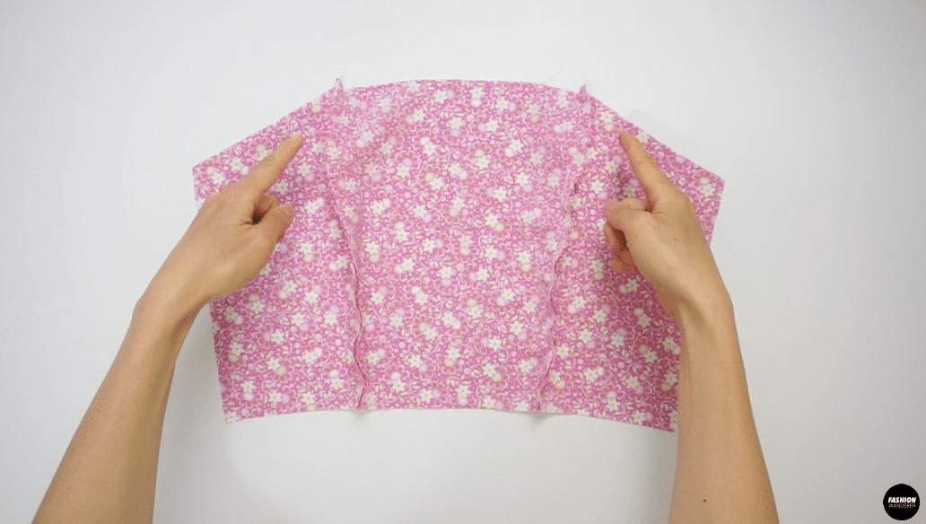 "Match the notch to sew ⅜"" width straight stitch."