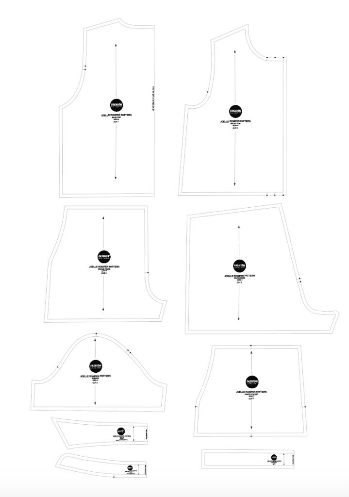 Joelle romper sewing pattern
