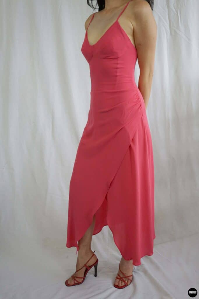 Vera bustier midi dress front sideview