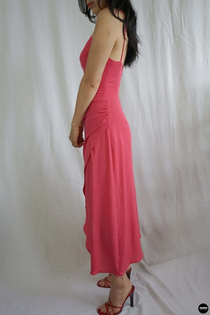 Vera bustier midi dress sideview
