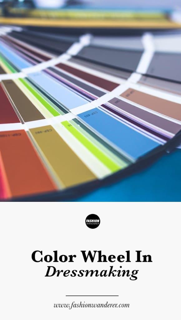 Color wheel in dressmaking