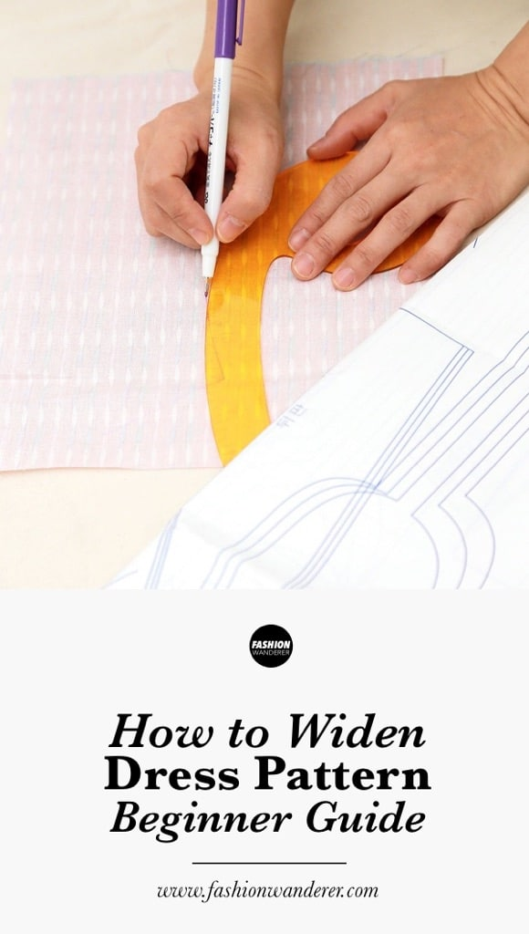 How to widen dress pattern