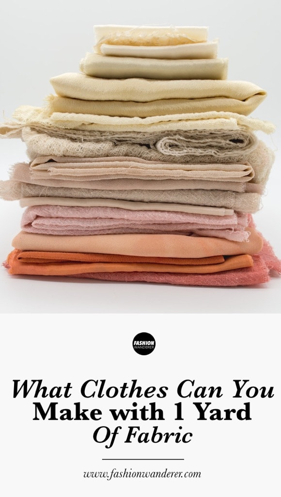 What clothes can you make with 1 yard of fabric