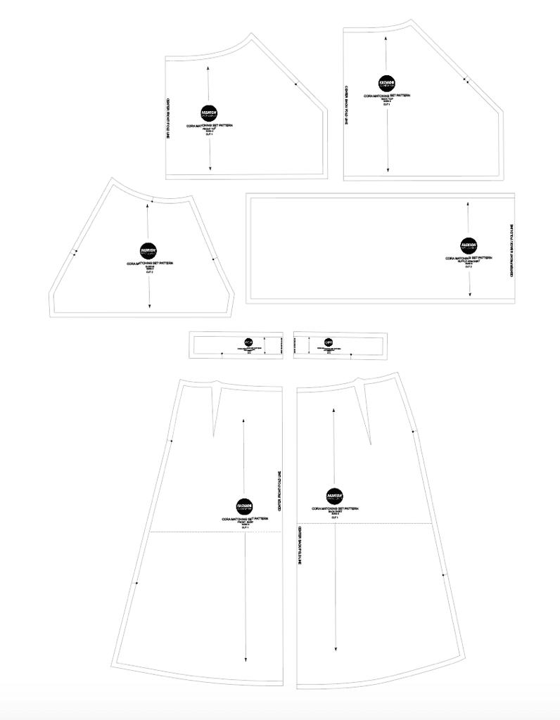 Cora matching set sewing pattern
