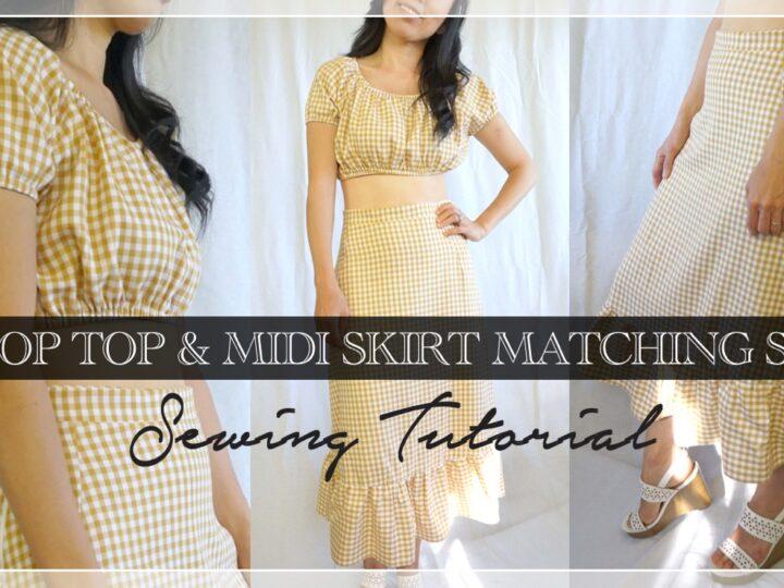 Cora top and skirt matching set
