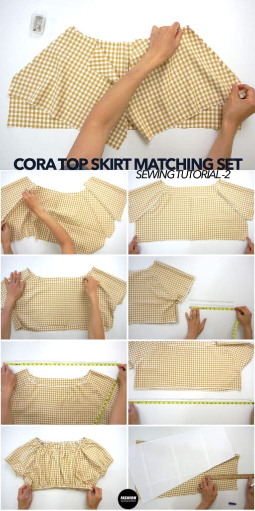 How to make Cora matching set puff sleeve top