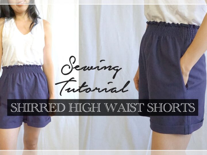 Evie shirred high waist shorts thumbnail