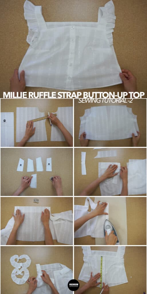 How to make Millie ruffle strap button up top