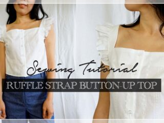 How to make Millie ruffle strap button up top thumbnail