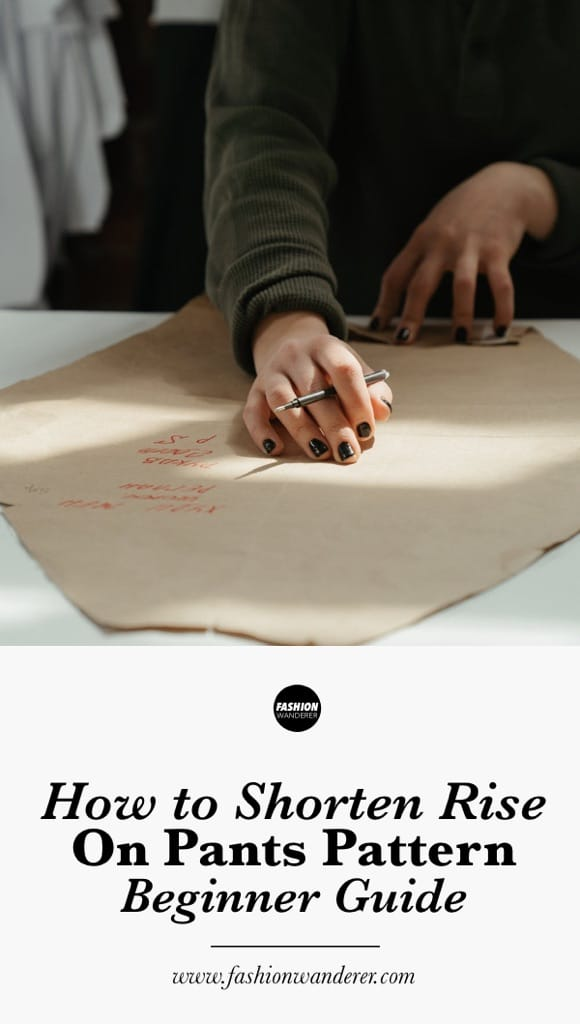 How to shorten rise on pants