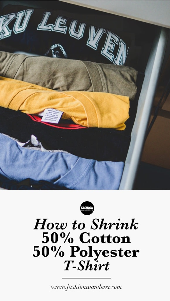 How to shrink 50% cotton and 50% polyester shirt