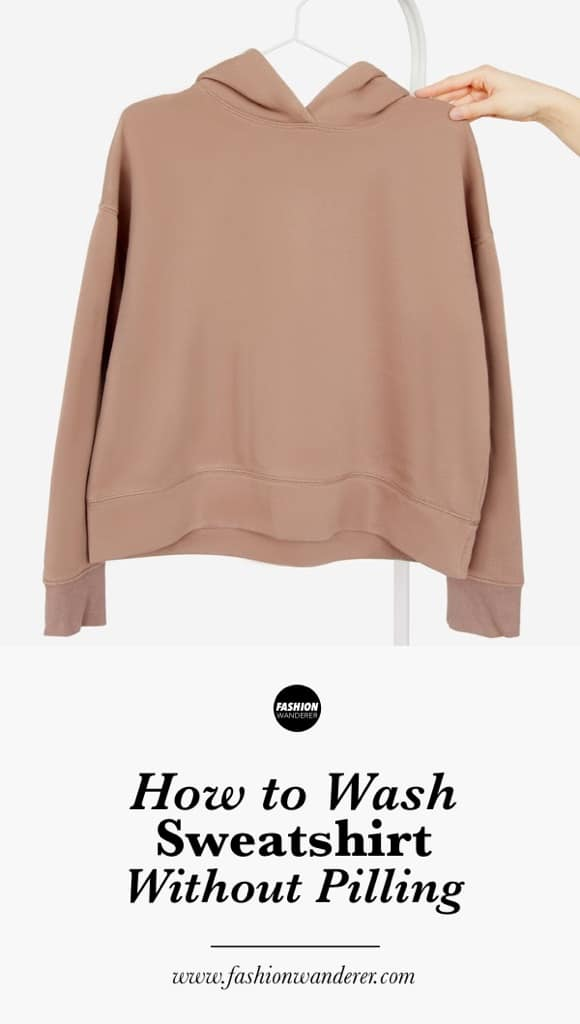 How to wash sweatshirts without pilling