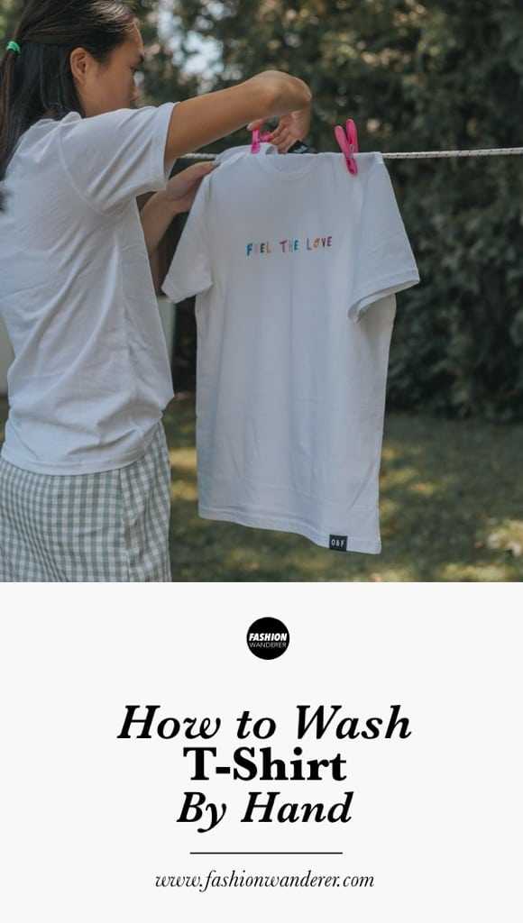 How to wash t-shirts by hand